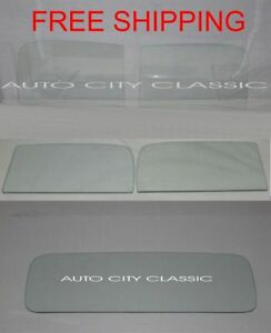 Glass 1941 Chevy Pickup Truck Windshield 2 Piece Doors Rear Back Set Clear