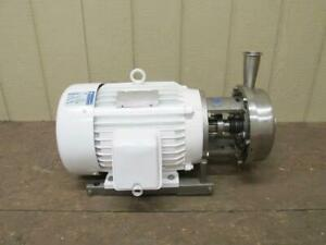 G h Ghh 20 Stainless Steel Food Grade Sanitary Centrifugal Pump 10 Hp 300 Gpm