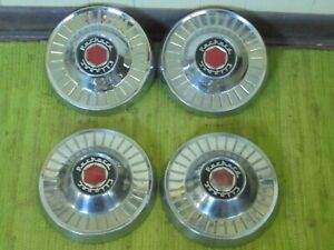 55 56 Packard Clipper Dog Dish Hub Caps 10 Set Of 4 Hubcaps 1955 1956