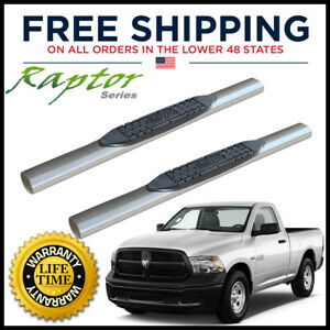 Raptor Series 4 Side Steps Nerf Bars 2009 2018 Dodge Ram Regular Cab 0702 0515m