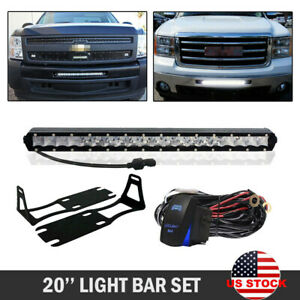 20 21 Led Light Bar Fog Lights For Dodge Ram 1500 2500 3500 Mounting Brackets