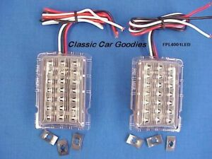 1940 Ford Led Park Light Inserts 2 12v Street Custom Rat Rod