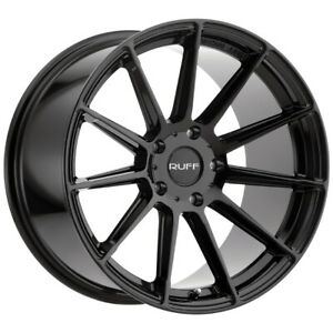 Staggered Ruff Rs2 Front 18x8 5 Rear 18x10 5x120 35mm Gloss Black Wheels Rims
