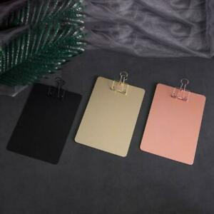 Metal Clipboard Writing Pad File Folders Document Holder School Stationery Gifts