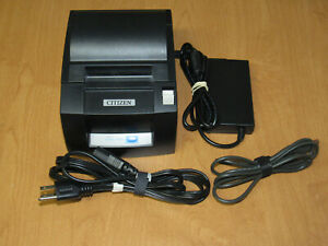 Citizen Ct s310a Point Of Sale Pos Usb Thermal Receipt Printer W Cords Tested