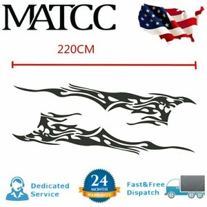 1 Pair Car Body Flame Decal Vinyl Graphics Side Stickers 83 X 19 Waterproof