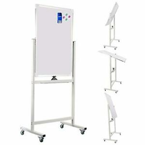 Mobile Dry Erase Board 24 X 36 Rolling Double sided Magnetic Whiteboard New