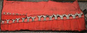Snap On 24pc 12 Point Sae Flank Drive Standard Combination Wrench Set 1 4 1 5 8