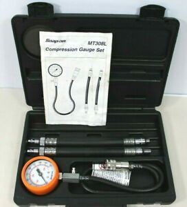 Snap On Mt308l Compression Gauge Set Great Condition Free Shipping