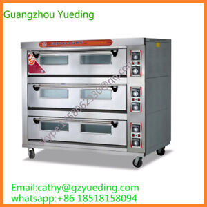 Bakery Machine Commercial 3 Decks 9 Trays Electric Pizza Oven