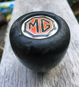 Vintage Mg Leather Shift Shifter Knob 2 1 4 1 7 8 Diameter