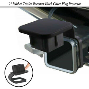 For Toyota Jeep Mercedes 2 Rubber Trailer Receiver Hitch Cover Plug Protector