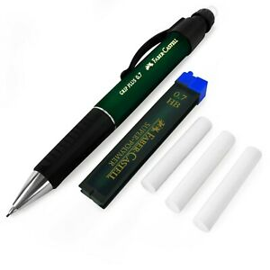 Faber castell Grip Plus Mechanical Pencil Green 0 7mm Hb Leads Erasers