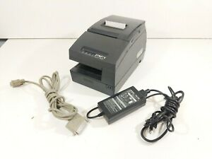 Epson Tm h6000ii M147c Pos Receipt Printer W Power Supply And Computer Cable