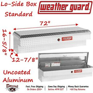 300301 9 01 Weather Guard Defender Aluminum Lo side Mount 72 Truck Toolbox