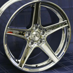 18 Chrome Ford Mustang Saleen Style Wheels 4 18x9 5x114 3 Rims Sn95 94 04