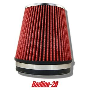 Red Universal Short Cone Truck Cold Air Filter Replacement 6 152 Mm