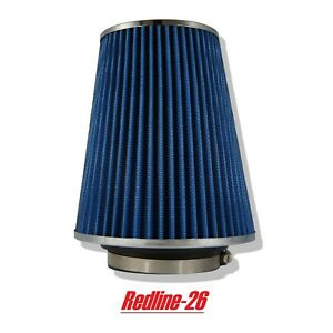 Blue Universal Cone Truck Cold Air Filter Replacement 4 102 Mm Inlet