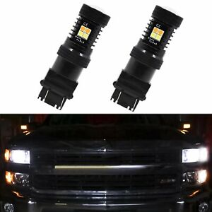 For 99 14 Chevy Silverado Switchback Amber White 3157 4157 Led Turn Signal Light