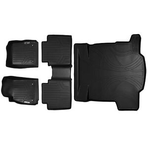 All Weather Floor Mats Set And Cargo Liner Bundle For Chevy Impala Black