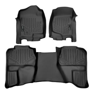 Smartliner All Weather Custom Floor Mats Liner For Chevy Extended Trucks Black