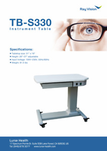 Optical Motorized Power Table Ophthalmic Adjustable Two Instrument Table Tb s330