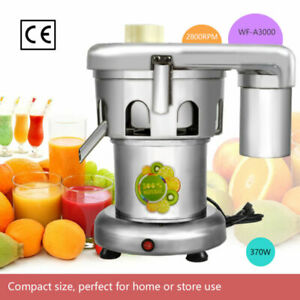 Wf a3000 370w 2800 Rpm Heavy Duty Commercial Juice Extractor Stainless Steel New