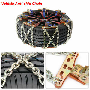Wheel Tire Anti Skid Chains Snow Mud Ice Car Truck Suv Emergency Winter