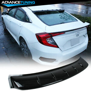 Fits 16 20 Honda Civic Sedan Shark Fin Rear Window Roof Visor Shade Spoiler