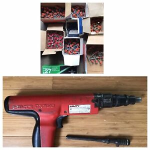 Hilti Dx350 Powder Actuated Drive Nail Gun With Accessories