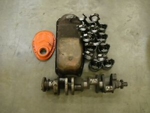 Chevrolet 327 Crank 5236 rods Oil Pan And Timing Cover
