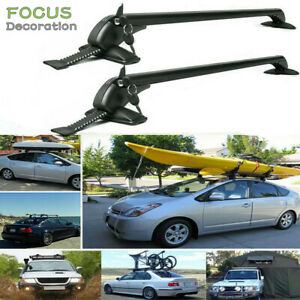Universal Car Top Luggage Roof Rack Cross Bar Carrier Adjustable Window Frame