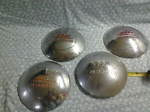 Vintage 30s 40s Plymouth Baby Moon Wheel Covers Hub Caps