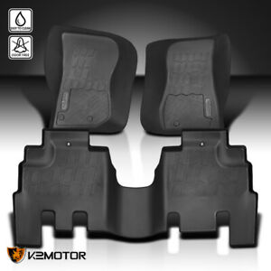 For 2014 2018 Jeep Wrangler All Weather Heavy Duty Rubber Floor Mats Front rear