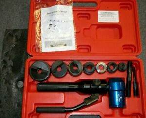 Eclipse 902 483 Knockout Hydraulic 10pc Tuff Swivel Punch Set In Case very Nice