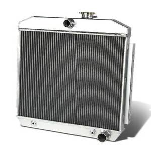 2 Row Aluminum Radiator For 55 56 57 Chevy Bel Air Nomad Del Ray 150 210 V8 Mt