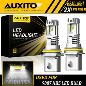 2x Auxito 9007 Hb5 Led Headlight Bulb High Lo Beam 6500k Super Bright M2 24000lm