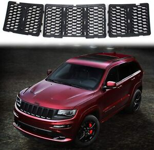 Honeycomb Mesh Front Grill Grille Inserts Cover Kit For Jeep Grand Cherokee14 16