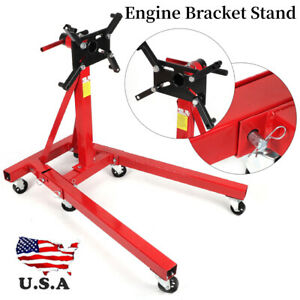 2000lbs Foldable Aluminum Engine Overturn Stand Hoist Engine Maintenance Support