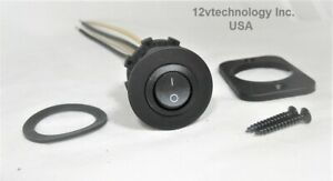 Round Dpst Toggle Rocker Switch Panel Mount 12v Round Dual off on Dashboard