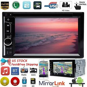 For Chrysl Town Country 2din 6 2 Car Stereo Radio Cd Dvd Player Bluetooth Am