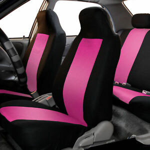Highback Front Bucket Seat Covers Pair For Auto Car Truck Suv Pink