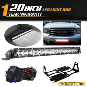 20 Inch 100w Led Work Light Bar S F Combo Fit 2004 2018 Dodge Ram 2500 3500 New