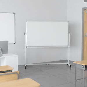 Double sided Mobile White Board Stand With Pen Tray