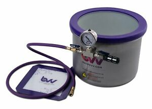 Bvv 3 Gallon Wide Stainless Steel Side Mount Vacuum Degassing Chamber