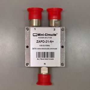 Mini circuits Dc Coaxial Power Splitter Combiner Zapd 21 n 5 2 0 Ghz Rf Type N