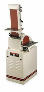Jet BeltDisc Sander 10 In Disc 6 x 48 Belt  Includes Stand Miter Gauge