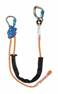 Adjustable Positioning Lanyard 10 Ft Length 310 Lb Weight Capacity Nylon