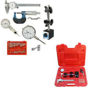 Machinist Inspection Tool Set Magnetic Base dial Caliper micrometer indicator