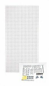 Hardwood Pegboard Panel Kit With 25 Lb Load Capacity 48 h X 24 w White 1 Ea